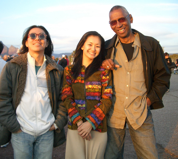 Guitarist, Yu Ooka and pianist, Billy Mitchell (and me) sightsee in Arizona